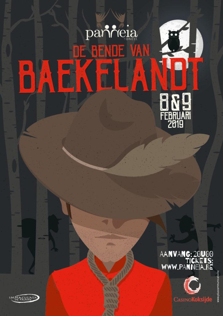 affiche 'De bende van Baekelandt' - Toneelvereniging Panneia